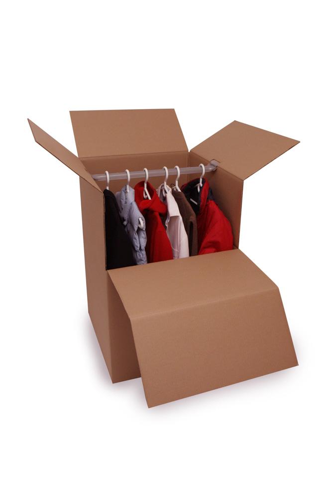 Short Wardrobe Box With Bar Moving Boxes Moving