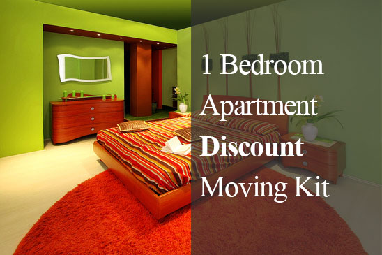 1 bedroom apartment discounted moving kit for One bedroom home kits