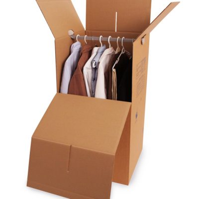 Wardrobe Box With Bar