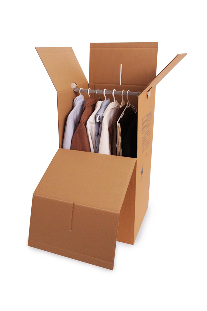 Wardrobe Box With Bar Moving Storage Used For Storing Clothe
