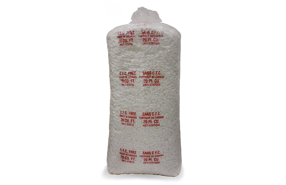 White Regular Foam Chips 20 cu.ft